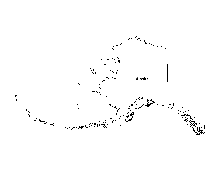 graphic about Printable Maps of Alaska named Printable Map of the Nation of Alaska -