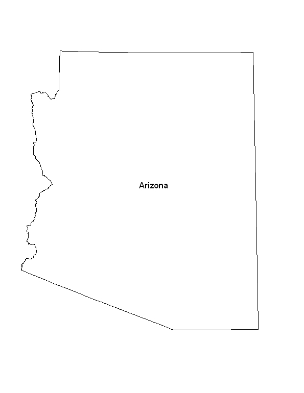 picture relating to Printable Arizona Map referred to as Printable Map of the Region of Arizona -