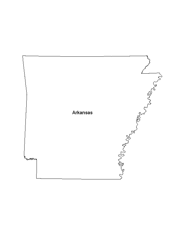 Us Map Arkansas