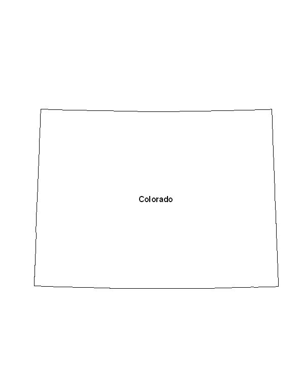 photo about Printable Map of Colorado identify Printable Map of the Country of Colorado -