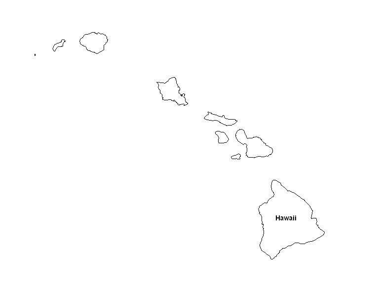 photo about Printable Pictures of Hawaii named Printable Map of the Nation of Hawaii -