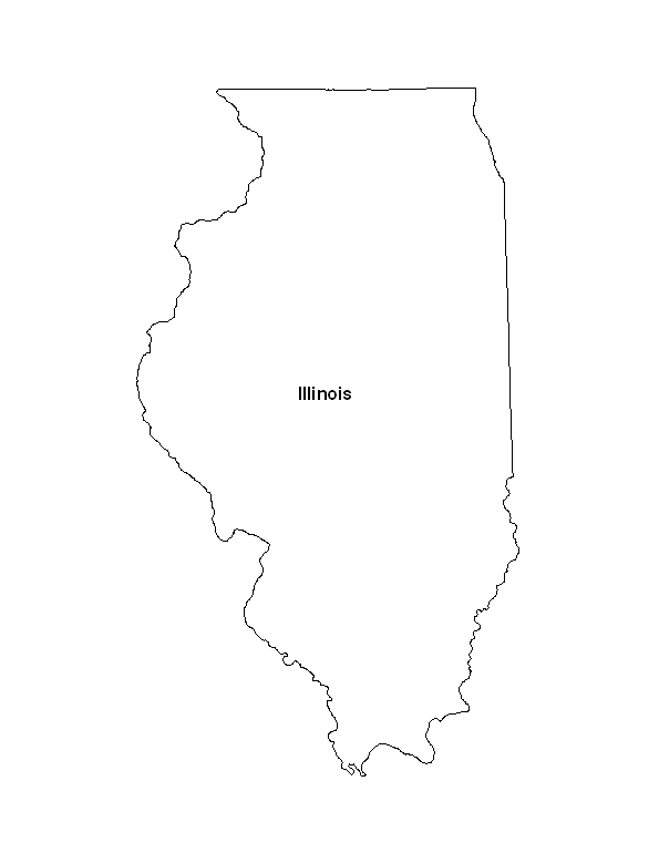 Map of the State of Illinois. Click on the map to view a larger printable