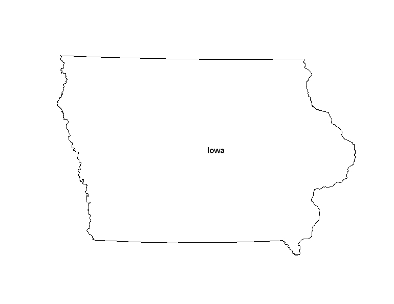 Printable Map of the State of Iowa - ePrintableCalendars.com