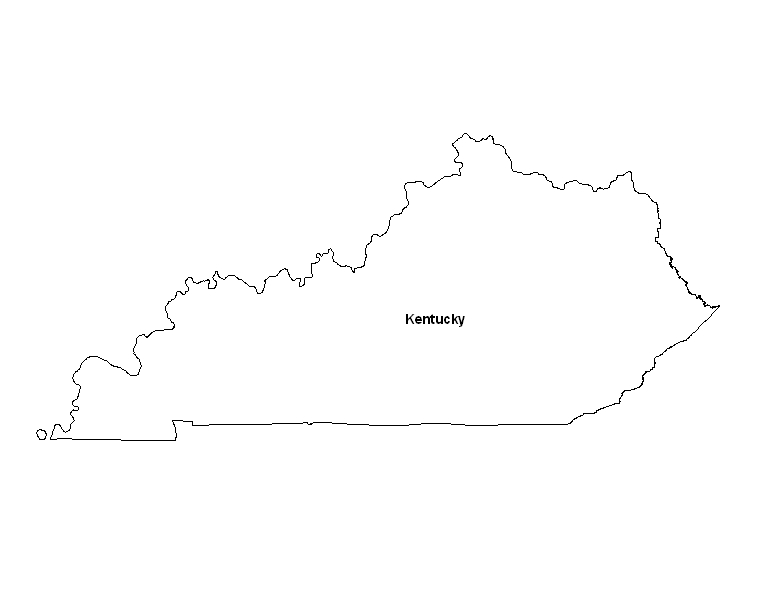 Monster image for printable map of kentucky