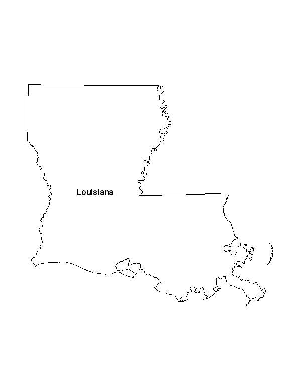 picture regarding Printable Map of Louisiana identified as Printable Map of the Country of Louisiana