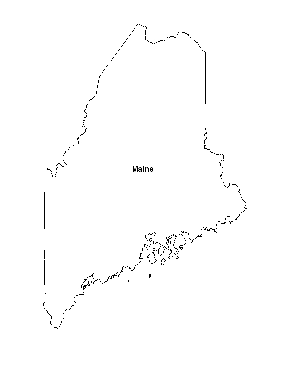 picture relating to Printable Map of Maine named Printable Map of the Place of Maine -