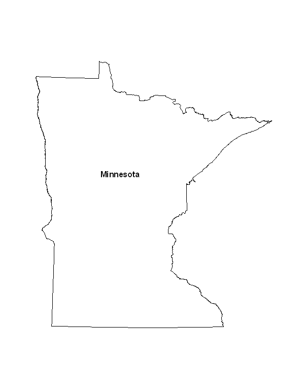 photo relating to Printable Maps of Minnesota named Printable Map of the Country of Minnesota