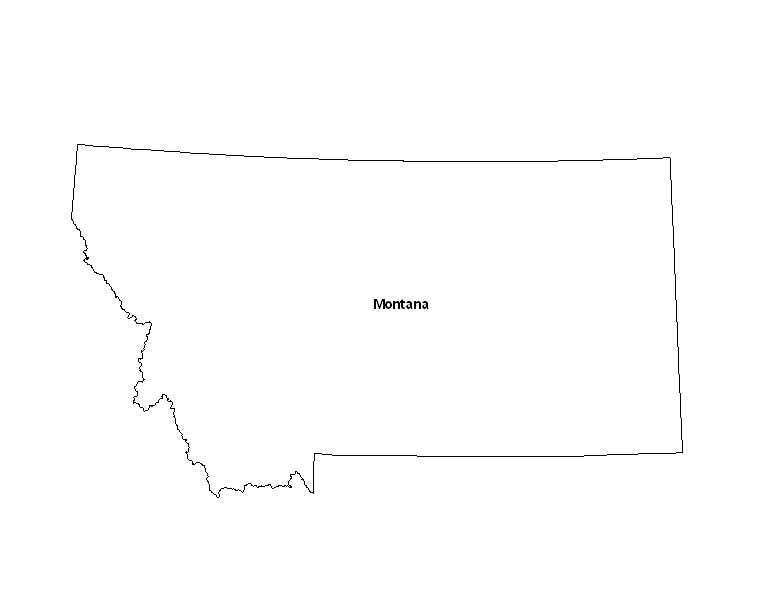 maps of montana. Map of the State of Montana