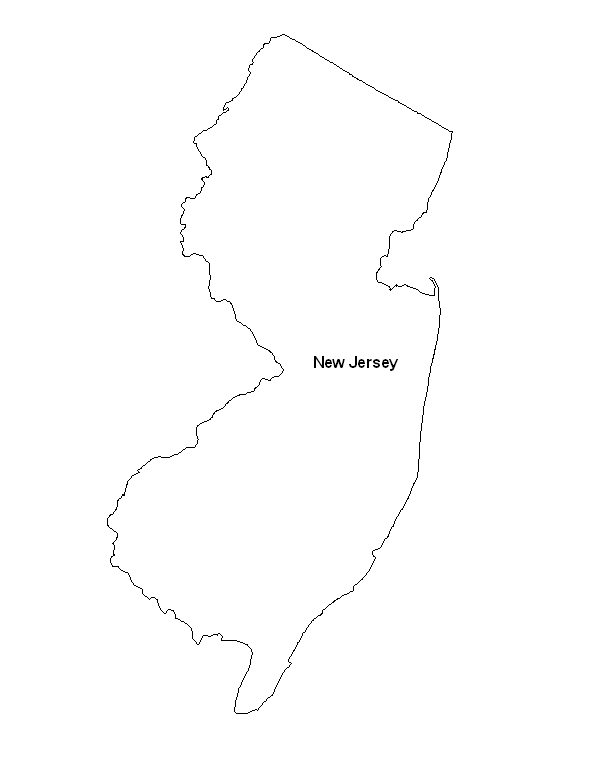 photo about Printable Map of New Jersey known as Printable Map of the Region of Refreshing Jersey