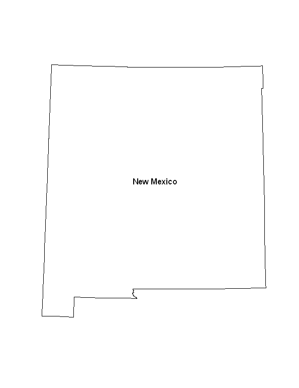 image relating to Printable Map of New Mexico titled Printable Map of the Place of Fresh Mexico