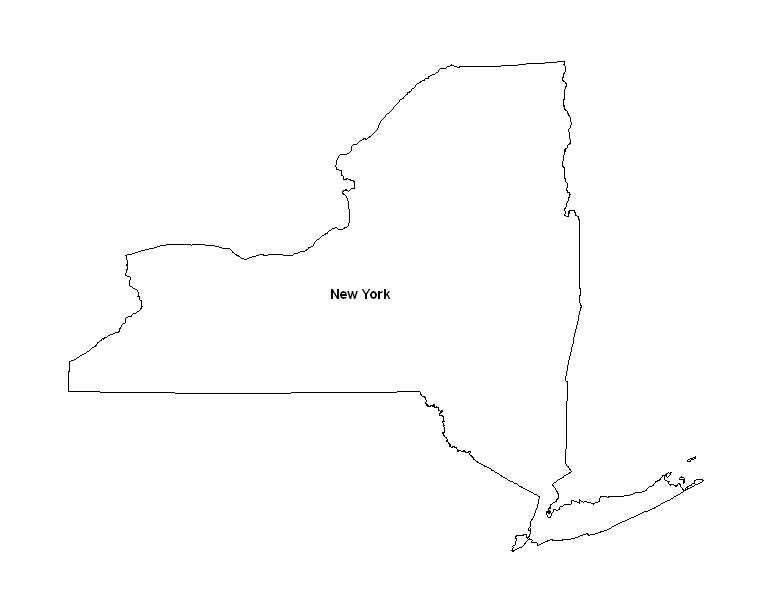Fan image for printable map of new york state