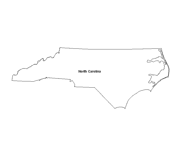Printable Map of the State of North Carolina - ePrintableCalendars.com