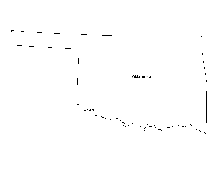 Printable Map of the State of Oklahoma - ePrintableCalendars.com