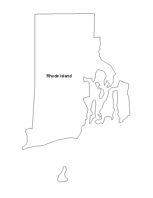 Rhode Island State Map of The State of Rhode