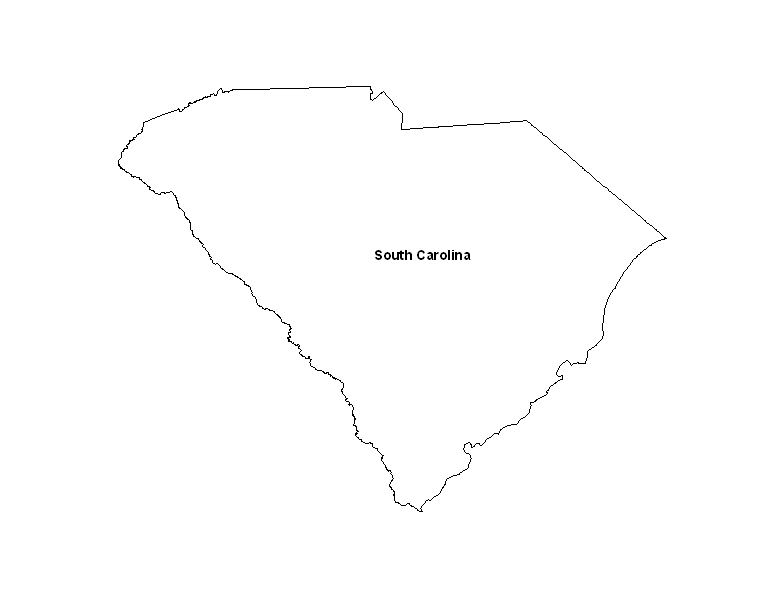 graphic regarding Printable Map of South Carolina titled Printable Map of the Country of South Carolina