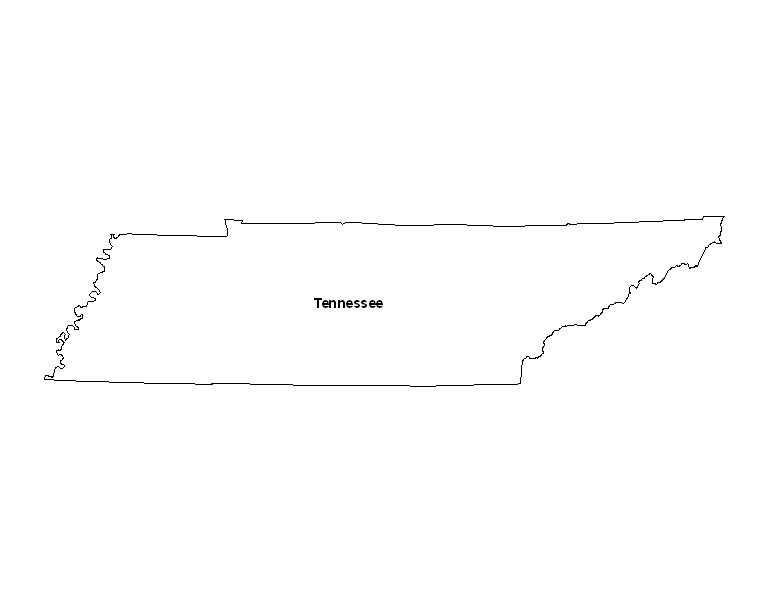 image regarding Printable Maps of Tennessee named Printable Map of the Country of Tennessee