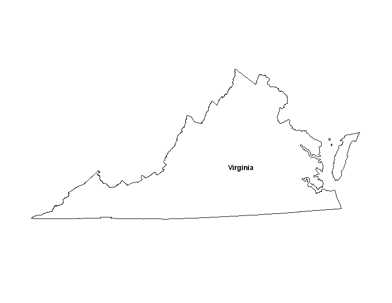 Free Coloring Pages Of Virginia Map
