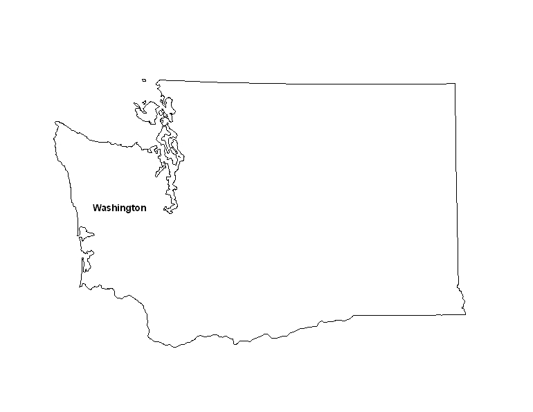 graphic relating to Printable Maps of Washington State known as Printable Map of the Region of Washington