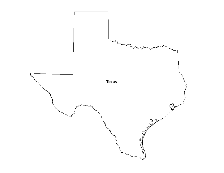 It's just a picture of Printable Maps of Texas in outline